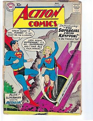 Action Comics #252 (May 1959, DC) Low Grade! 1st appearance of Supergirl!