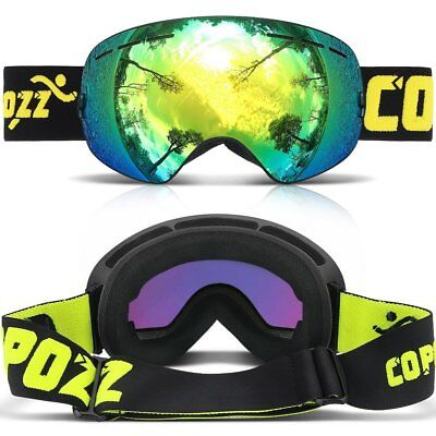 COPOZZ Ski Snowboard Snow Goggles Double Lens Anti fog UV for Skate Snowmobile