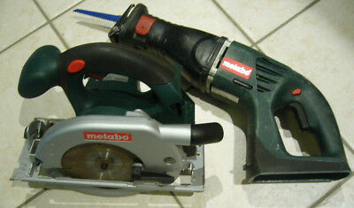 METABO 18V Circular Saw KSAP 18 & Recip Sabre Saw ASE 18, Skins only, Carry Case
