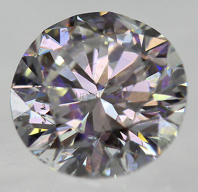 Certified 1.00 Carat E VS1 Round Brilliant Enhanced Natural Diamond 6.35mm 3EX