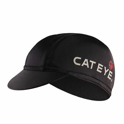 CATEYE Cycling Nylon Hat Anti-sweat Breathable Outdoor Sport Black Cap One Size