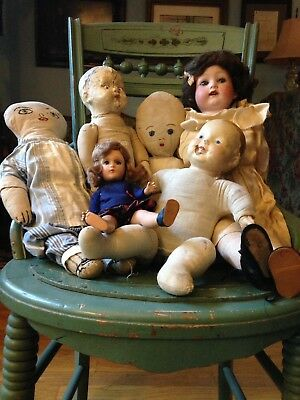 Antique Bisque Composition Jointed Heubach Doll Parts Repair Restore  Boxlot