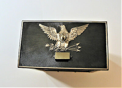 Vintage Post Office Box Door Bronze Federal Eagle 1895 with Key