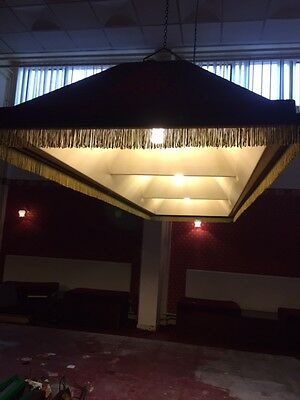 SNOOKER or POOL TABLE CANOPY Lights Suspended Original Fibreglass Man Cave
