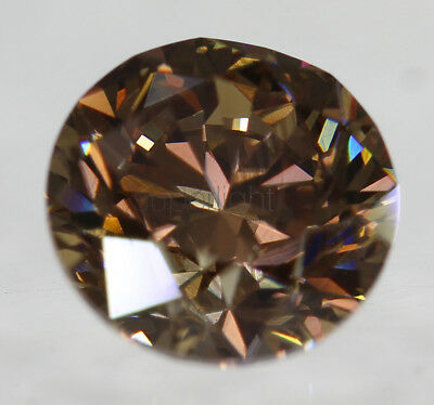 Cert 1.01 Vivid Brown VVS2 Round Brilliant Enhanced Natural Diamond 6.18mm 3VG