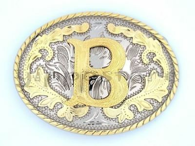 LETTER O METAL BELT BUCKLE INITIAL WESTERN DESIGN COUNTRY COWBOY RODEO NEW B436