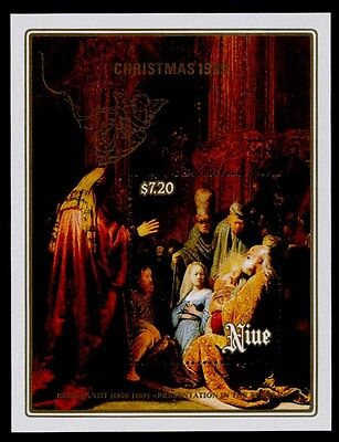 "Niue 577 MNH Christmas, Art, ""Presentation at the Temple"""