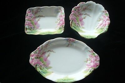 "Royal Albert ""blossom Time"" 3 Dishes Good Condition"