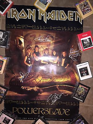Iron Maiden Powerslave Signed Poster! PSA/DNA Ultra Rare!⚡️