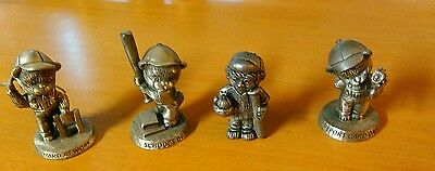 Set Of Four Pewter Figures From Avon