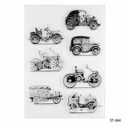 Vintage Cars Clear Stamps for DIY Scrapbooking Decor Card Making Crafts Supplies