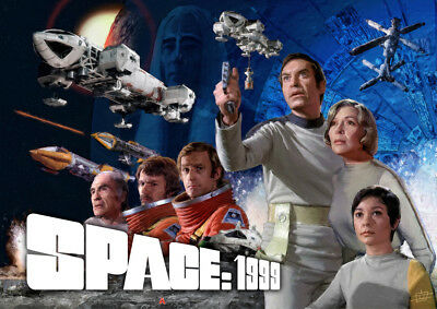 Space:1999 #2 Moonbase Alpha Sci Fi 70's British TV Series Sticker or Magnet