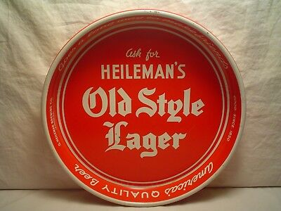 Very Nice Vintage Heilemans Old Style Lager Metal Beer Tray 11-A By A.c. Co, Exc