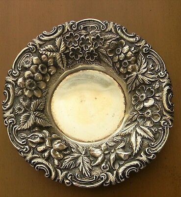 """Jenkins & Jenkins Baltimore Sterling Silver Repousse Candy Dish 5"""""""