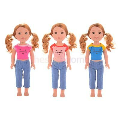 MagiDeal Cartoon Casual Clothes Outfit for 14'' American Girl Wellie Wisher Doll
