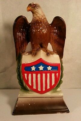 Vintage American Eagle Flag Painted made in Japan Coin Bank Americana Nostalgia