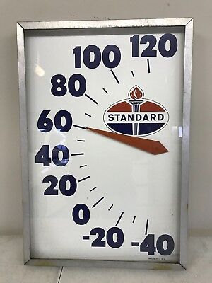 VERY RARE Standard Oil Advertising Thermometer for Man Cave 15x22