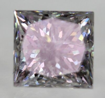 Certified 0.46 Carat G Color Princess Enhanced Natural Diamond 4.09X3.97mm 2VG