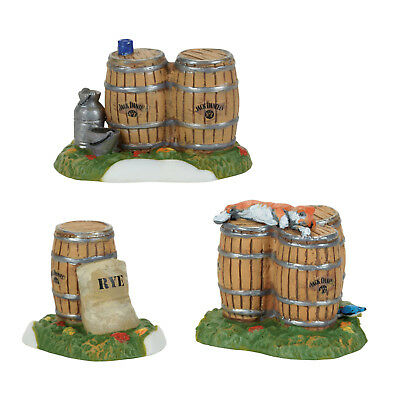 Dept 56 Christmas Jack Daniel's Barrel's & Rye Set/3 New 2017 4059390