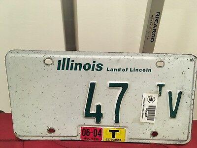 Illinois Low Number flat weight truck License plate