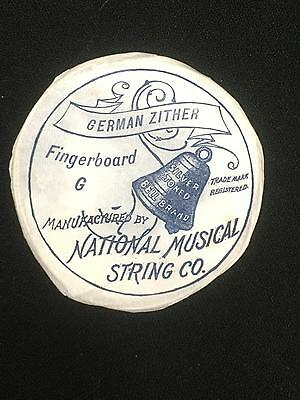 Antique German Zither Strings Fingerboard G  Still in Paper Package