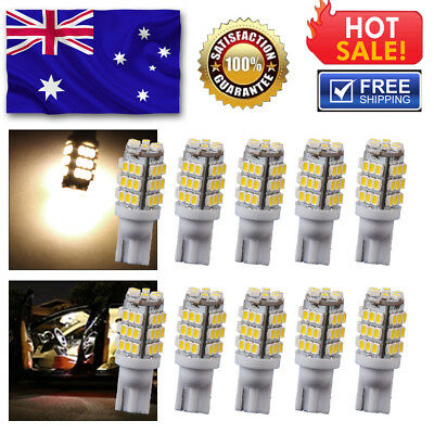 10 PCS CANBUS T10 Wedge 5SMD Parker Number Plate LED Bulbs W5W 194 168 131 WHITE