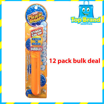 12 x MIRACLE BUBBLES CATCH N STACK - TOUCH BUBBLES