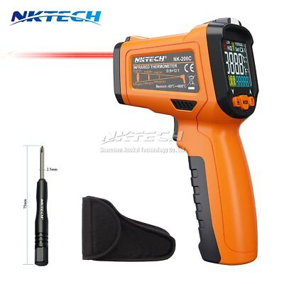 NKTECH NK-200C Non-contact LCD Digital Laser Infrared IR Gun Thermometer K-Type