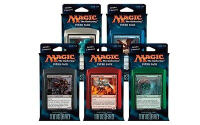 Set of 5 x 60-Card Shadows over Innistrad intro Pack Deck | 10 booster Packs MTG
