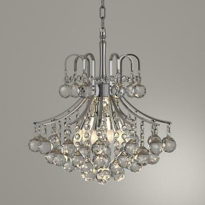 """BRAND French Empire 6 Light Chrome Finish Crystal Chandelier 16x15"""" W MINI SMALL"""