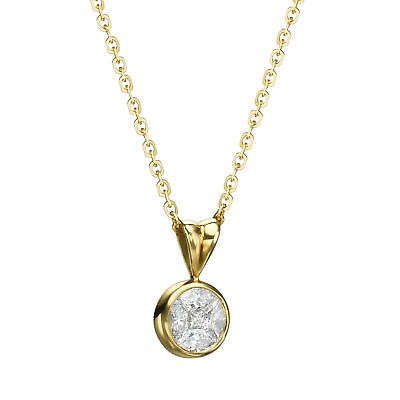 Natural Diamond 0.48 TCW Marquise Pendant Necklace 18K Gold Women Bezel Jewelry