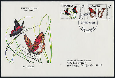 Gambia 533-4 on FDC - Butterflies