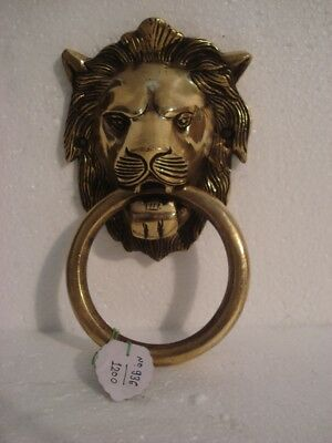 LARGE - ANTIQUE Style Brass DOOR KNOCKER - LION Style - Fully Brass - RARE(936)