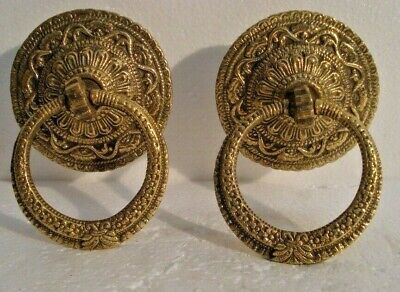 LARGE - 2 pcs ANTIQUE Style Brass DOOR KNOCKER - Fully Brass - RARE(990)
