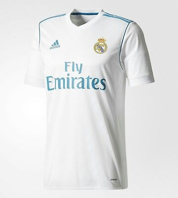Official 2017/18 Real Madrid Home Ronaldo Jersey (UCL champions logos included)