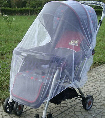 Cute Infant Baby Mosquito Insect Net For Baby Stroller Pushchair Buggy White NEW