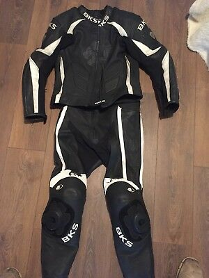 Men's 2 Piece BKS Motorcycle Leathers Size 40