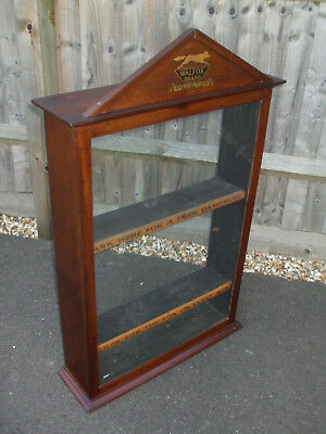 Antique mahogany chemist shop display cabinet for  Walfox Brand Specialities