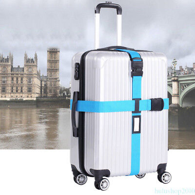 Portable Luggage Suitcase Baggage Cross Strap Belt With Luggage Tags Slot GT7