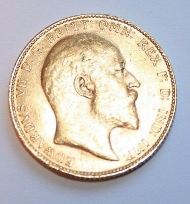 1910 Full Gold Sovereign. King Edward VII London Mint 22ct gold