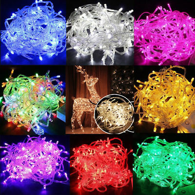 10M 100 LED Christmas Tree Fairy String Party Lights Lamp Xmas Waterproof NEW
