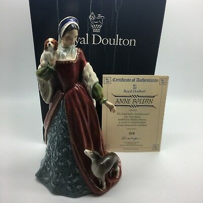 Royal Doulton Anne Boleyn HN3232 Certificate Mint in Box