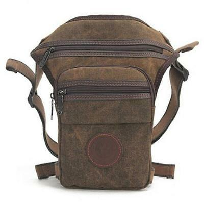 Cotton Canvas Hip Leg Motorcycle Military Outdoor Hike Waist Bag Fanny Backpack