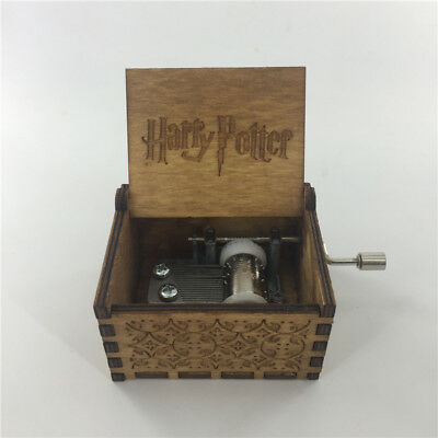 Fancy Hand crank Classic Movie Harry Potter Music song Box Retro wooden made