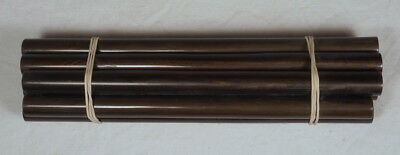 Beautiful rare lot of galalith brown marbled 9 rods 280 grams