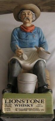 "Lionstone Whisky ""Camp Cook"" Porcelain Whiskey Decanter by Jeremiah Potts 1969"