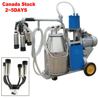 【Canada 2~5DAY SHIPPING】Electric Milking Machine Milker For Farm Cows 25L Bucket