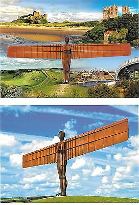 ANGEL OF THE NORTH x2,COLOURED POSTCARDS
