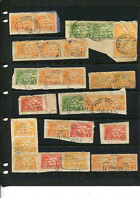 New Guinea Stamp Collection 1930's Various Stamps Pairs Etc Mainly On Piece