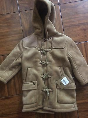 NEW WITH TAGS - UGG CHESTNUT BROWN KIDS TOGGLE COAT size 2Y